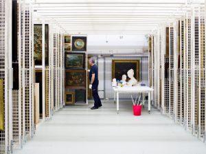 Blick in das Depot des Städel Museums; Foto Katrin Binner