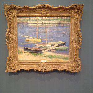 """Gustave Caillebotte, """"Vor Anker liegende Segelboote"""", 1883"""